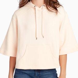 William Rast Women apple Pink Hooded Sweater, Sz L